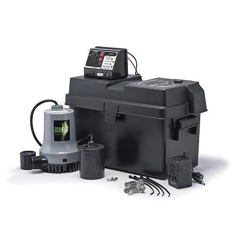 Sump Pump, Battery Back-Up System, 115V/12V DC