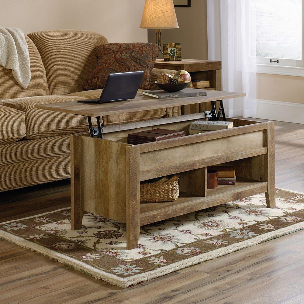 Table de salon Dakota Pass relevable en chêne artisanal