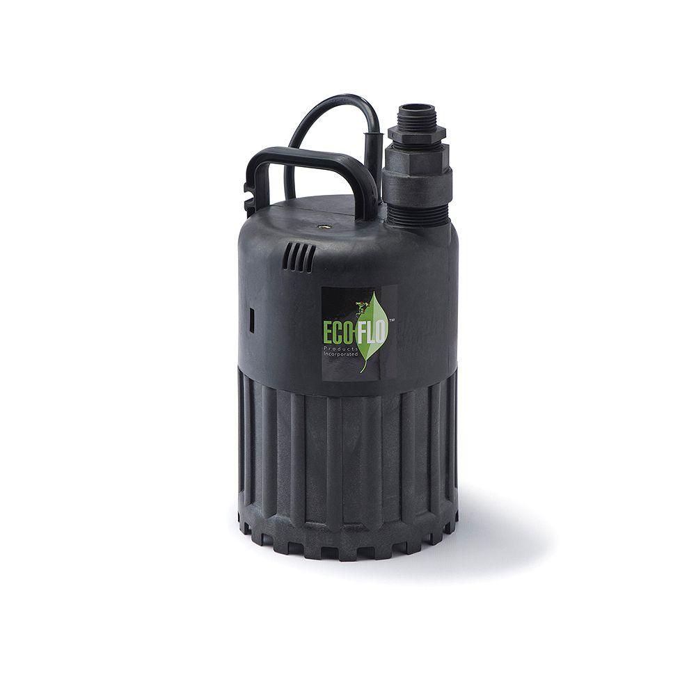 ECOFLO Submersible Utility Pump, 1/2HP