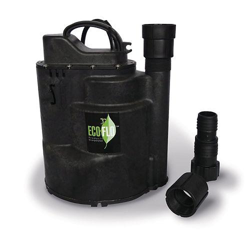 Pompe utilitaire submersible de 1/4HP, interrupteur automatique