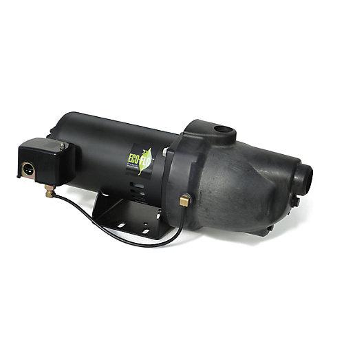 Pompe à jet pour puits peu profond, 3/4HP, thermoplastique