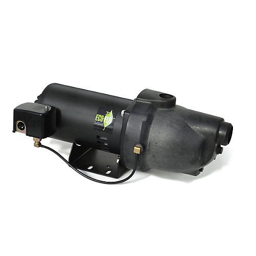 Pompe à jet pour puits peu profond, 1HP, thermoplastique