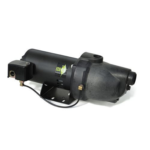Shallow Well Jet Pump, 1HP, Thermoplastic