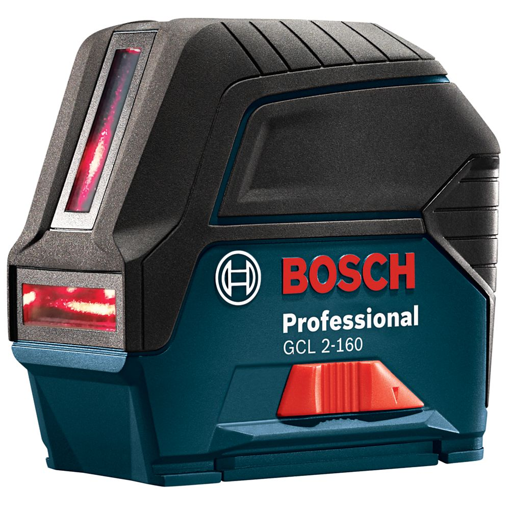 Bosch 65 ft. Self-Leveling Cross-Line Laser Level with Plumb Points, Rotating Mount and Carrying Pouch