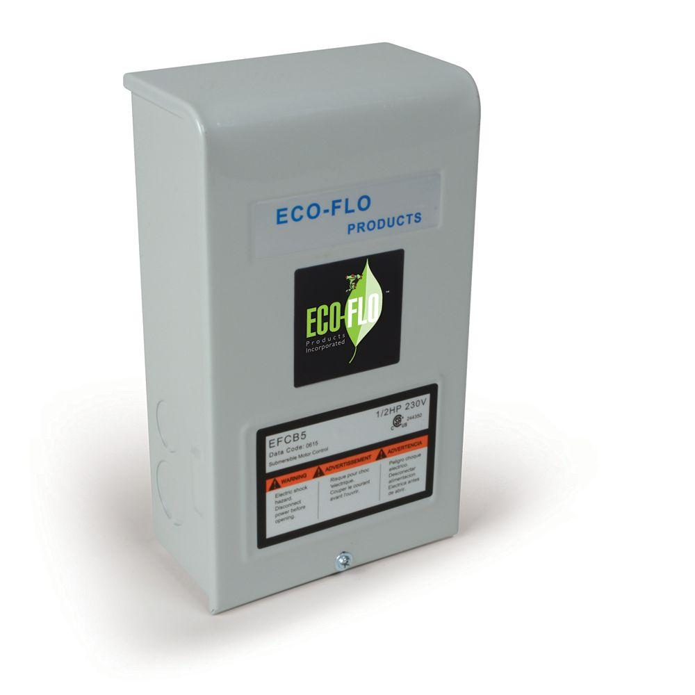 ECOFLO Control Box for 4-inch Sub Well Pump, 1 1/2HP, 3W