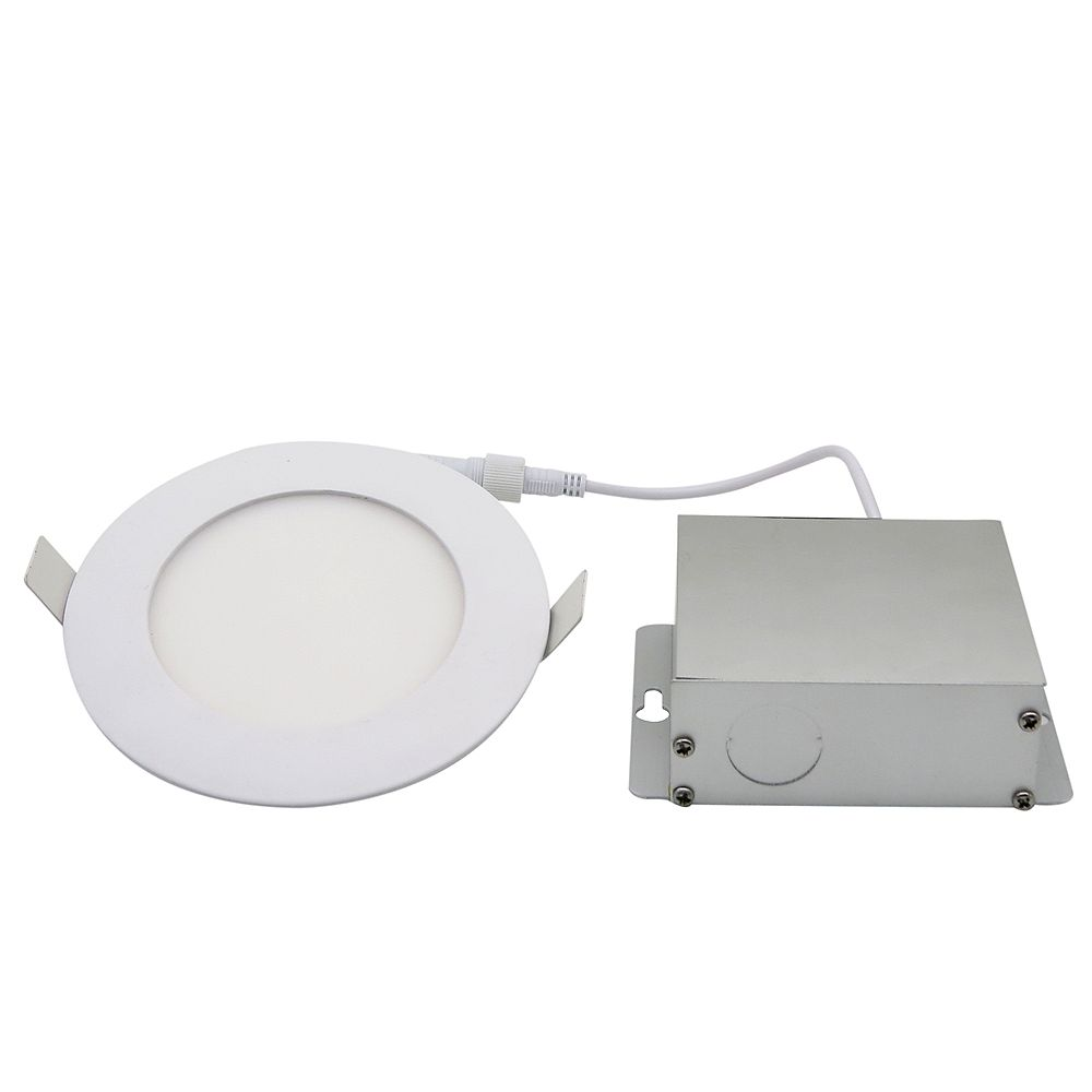 Strak Led 4 Inch Integrated Pure White 6000k Dimmable Led Recessed Light Kit In White With The Home Depot Canada