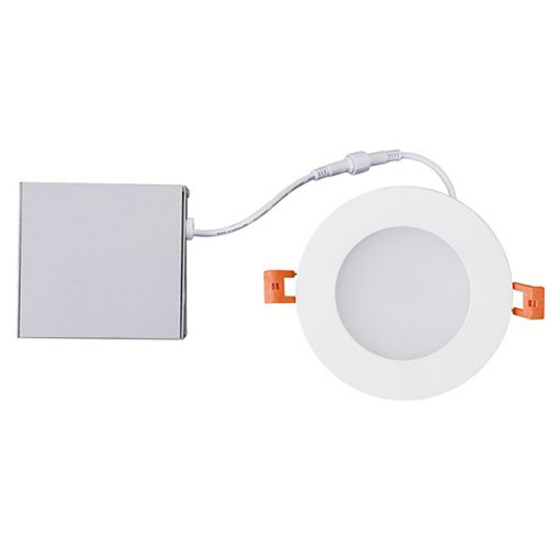 "LED 4 "" kit Slim Downlight avec J Box - 9W Dimmable 540LM 3000K WH- ENERGY STAR®"