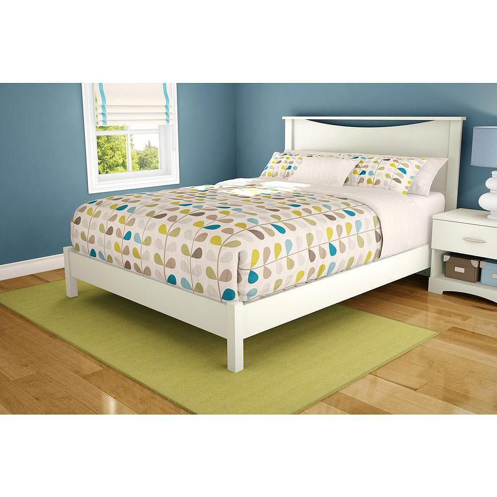 South Shore Step One Queen Platform Bed (60 Inch), Pure White