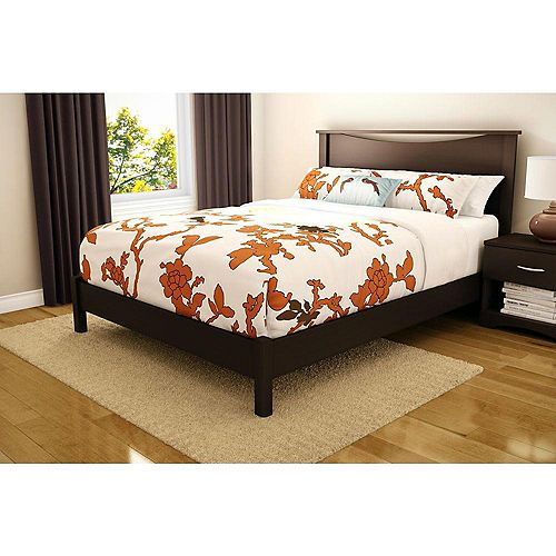 Step One Queen Platform Bed (60 Inch), Chocolate