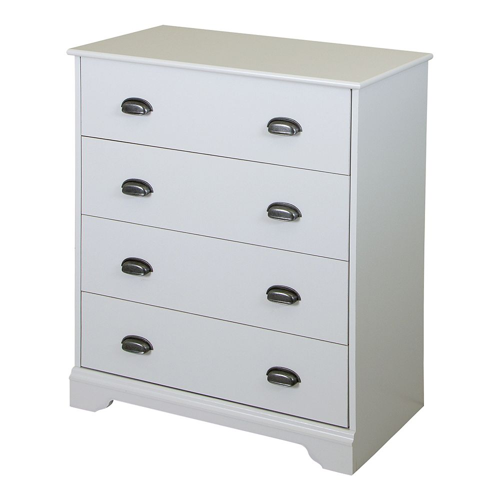 South Shore Fundy Tide 4-Drawer Chest, Pure White