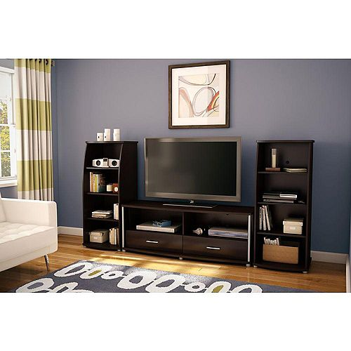 City Life 60-inch x 22-inch x 20-inch TV Stand in Brown