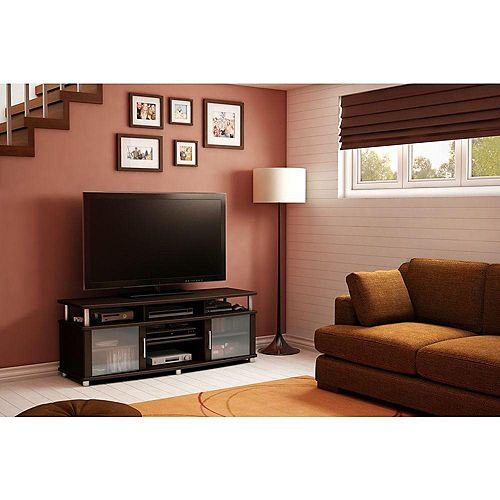 City Life 59.25-inch x 22.25-inch x 19.5-inch TV Stand in Brown