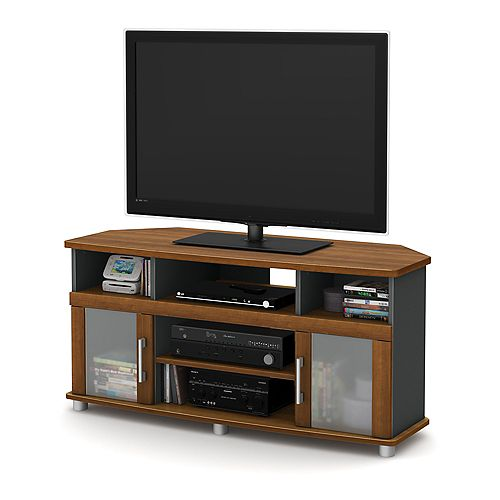 City Life 47.25-inch x 22.5-inch x 19.25-inch TV Stand in Brown