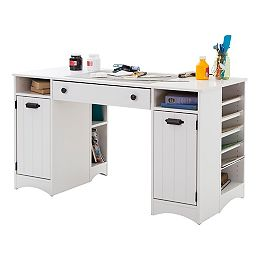 Bureau Artwork Craft Table, 53,5po x 30po x 23,75po, blanc