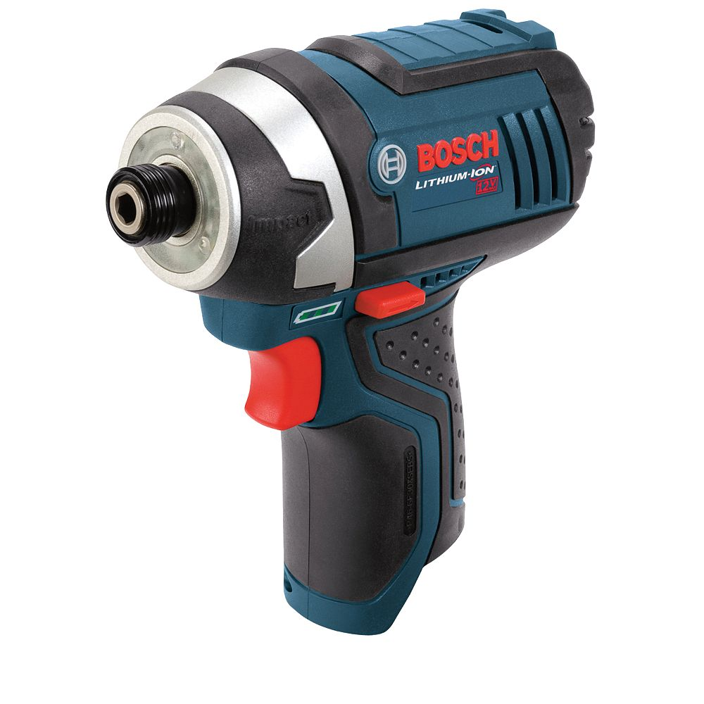 Bosch 12V Li-Ion Cordless 1/4-inch Variable Speed Impact Driver with Exact-Fit Insert Tray (Tool-Only)