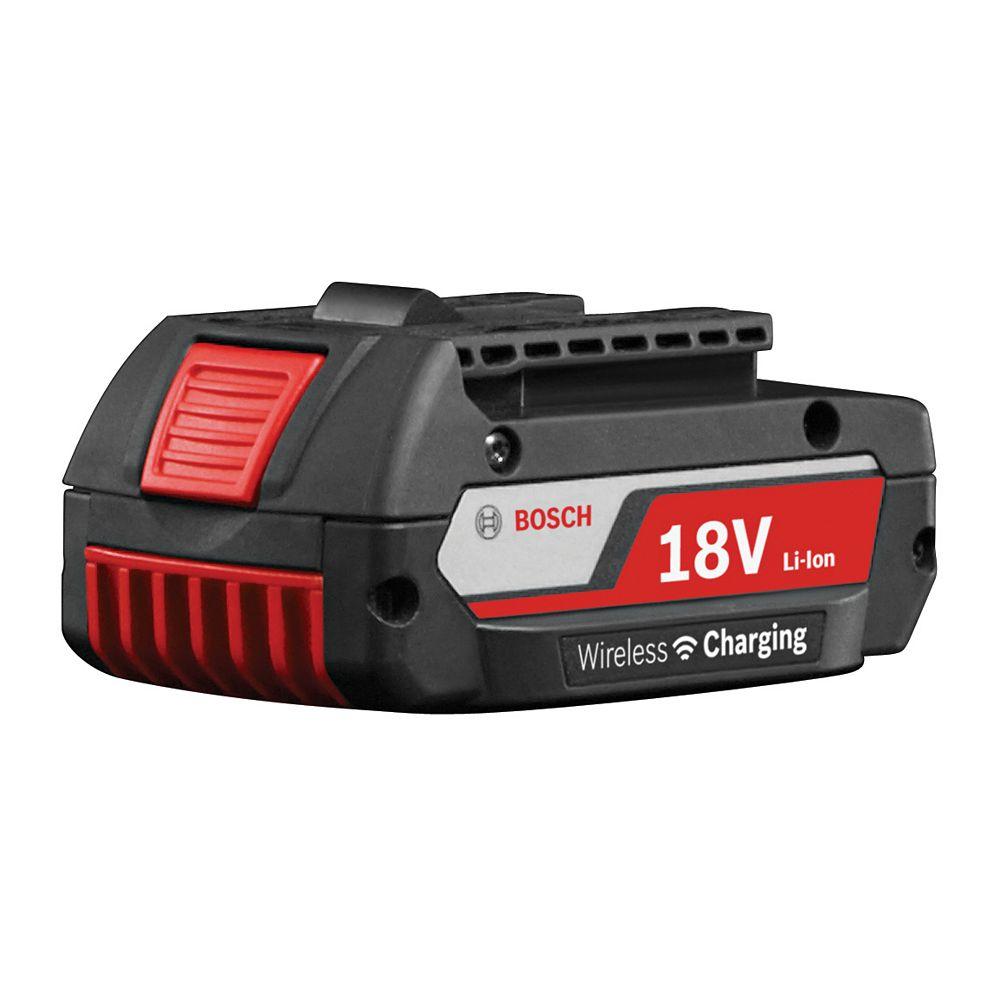 Bosch Batterie SlimPack au lithium-ion à chargement sans fil de 18V 2Ah