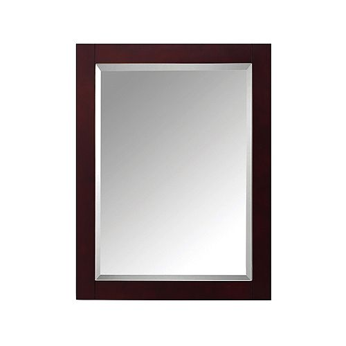 Avanity Modero 24-inch W x 1.3-inch D x 30-inch H Single Framed Wall Mirror in Espresso