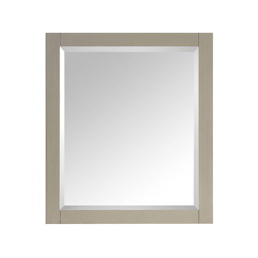 Avanity Miroir Avanity de 28po au fini taupe satiné pour collection Delano
