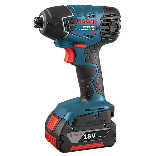 18V Quick Change Chuck 1/4-inch Hex Cordless Impact Driver with FatPack Batteries
