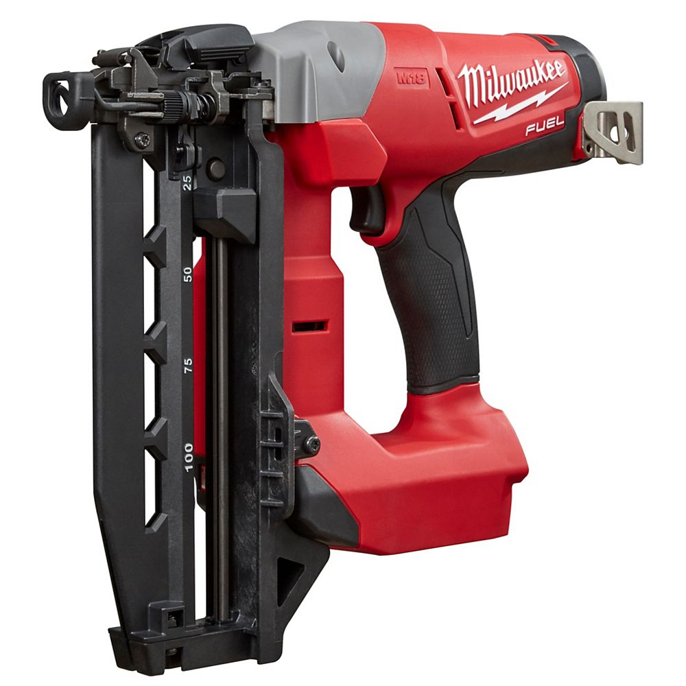 Milwaukee Tool M18 FUEL 18V Lithium-Ion Brushless Cordless 16-Gauge Straight Finish Nailer (Tool Only)
