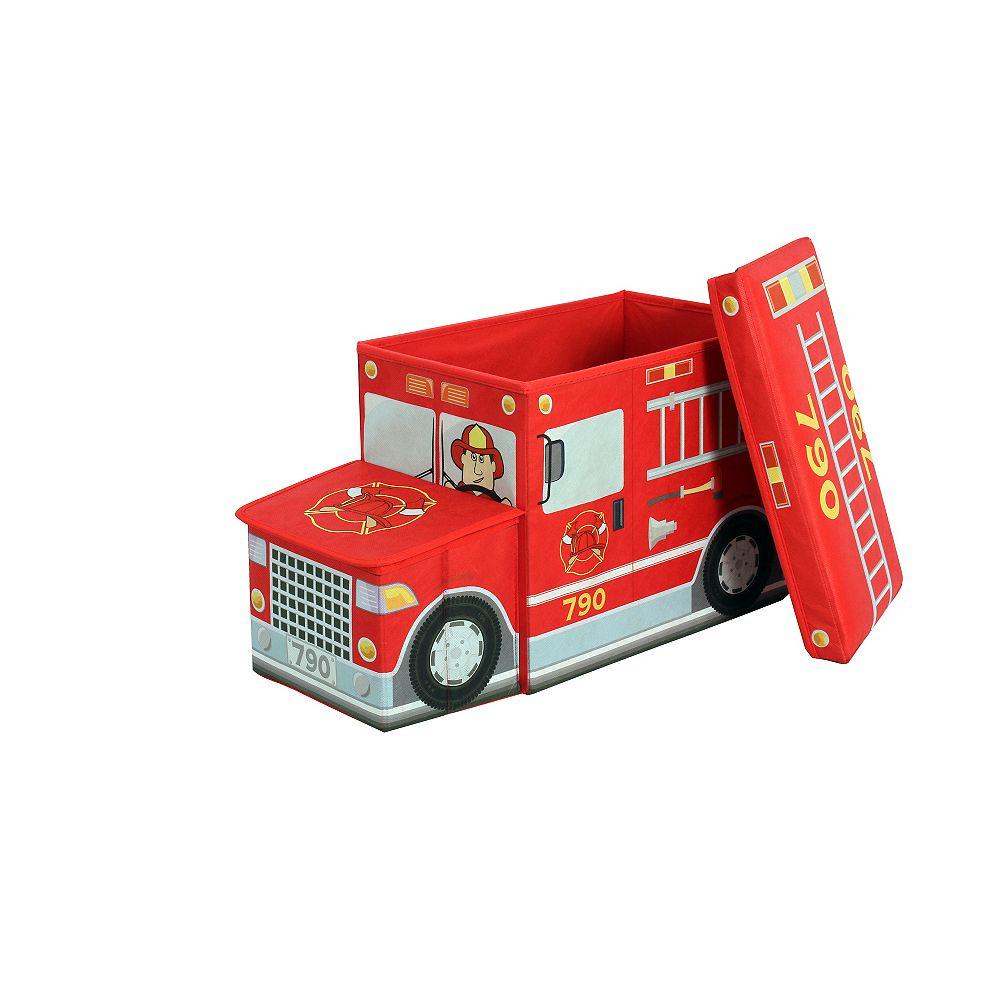 Greenway Collapsible Children's Storage Ottoman, Fire Truck