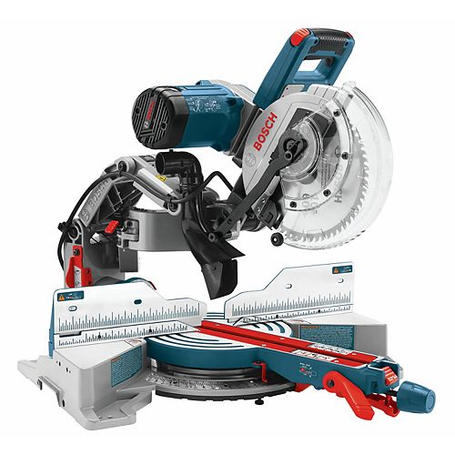 120V Corded 10-inch Dual-Bevel Glide Mitre Saw with Carbide Saw Blade and Blade Guard System