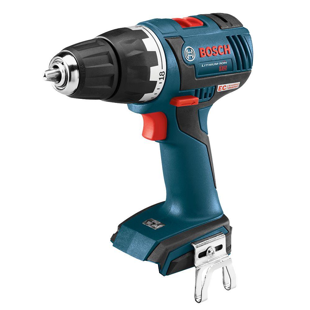 Bosch 18V EC Brushless Keyless 1/2-inch Chuck Cordless Drill/Driver-Tool Only