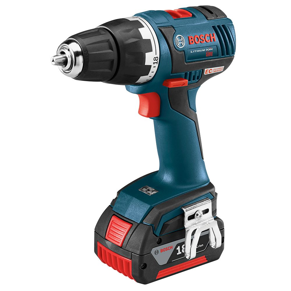 Bosch 18V EC Brushless Keyless 1/2-inch Chuck Cordless Drill/Driver with Case