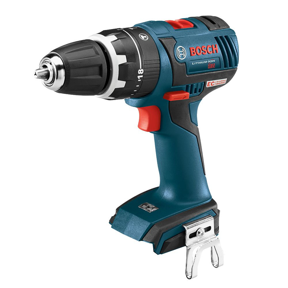 Bosch 18V Lithium Ion Cordless EC Brushless Compact Tough 1/2-inch Hammer Drill/Driver