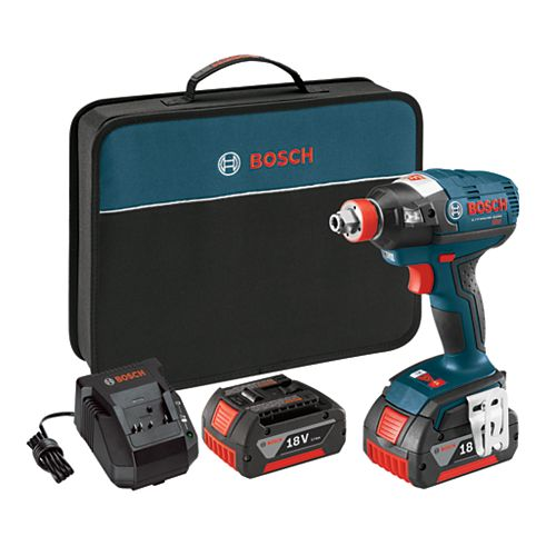 18V  EC Brushless 1/4-inch and 1/2-inch Socket-Ready Cordless Impact Driver with FatPack Batteries and Case