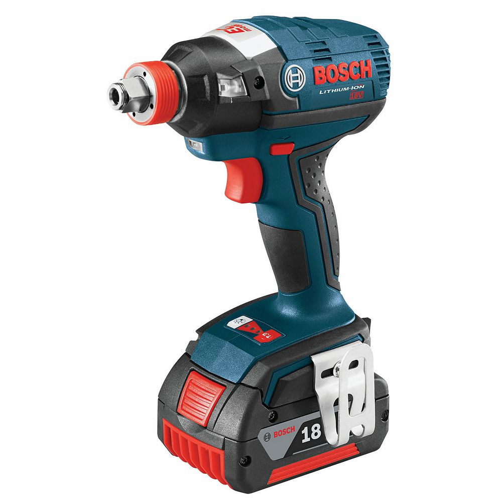 Bosch 18V  EC Brushless 1/4-inch and 1/2-inch Socket-Ready Cordless Impact Driver with SlimPack Batteries