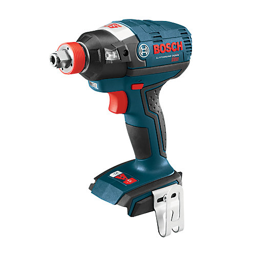 18 V EC Brushless Socket-Ready Impact Driver with Both 1/4 Inch Hex and 1/2 Inch Square Drives
