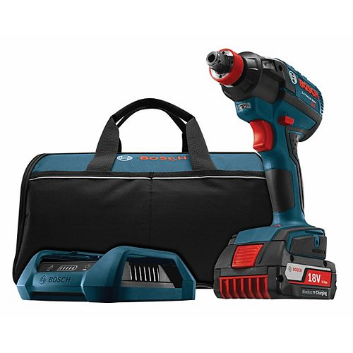 18V  EC Brushless 1/4-inch and 1/2-inch Socket-Ready Cordless Impact Driver with Wireless Charging