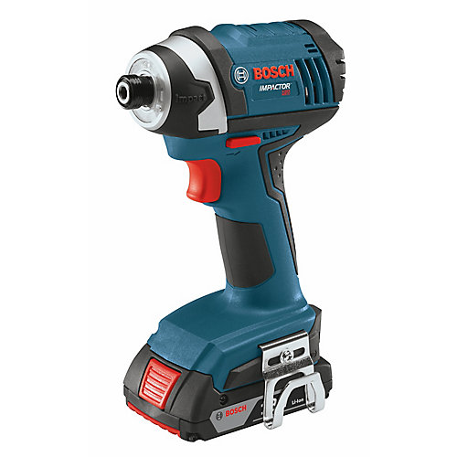 18 V 1/4 Inch Hex Compact Tough Impact Driver with 2 SlimPack Batteries