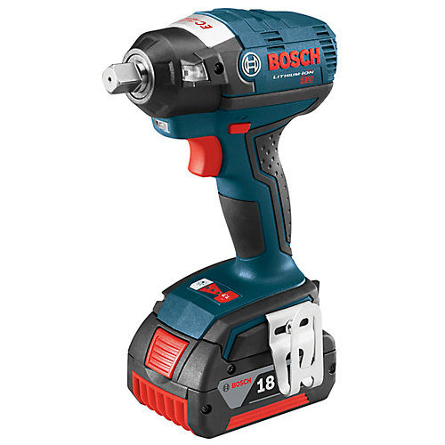 18V EC Brushless Lithium Ion Cordless 1/2 inch Square Drive Impact Wrench with Detent Pin