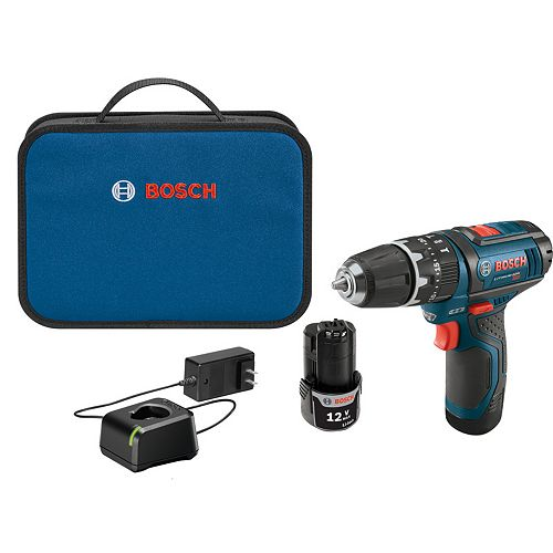 12V Max Hammer Drill Driver with 2 Batteries, Charger, Screwdriver Bits and Carrying Bag