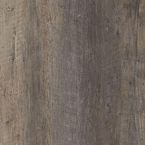 Latte pour plancher, vinyle de luxe, largeurs multiples x 47,6 po, Pin foncé Harrison, 19,53 pi2/boîte