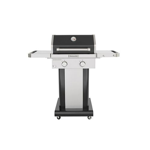 2-Burner Outdoor Gas BBQ in Black