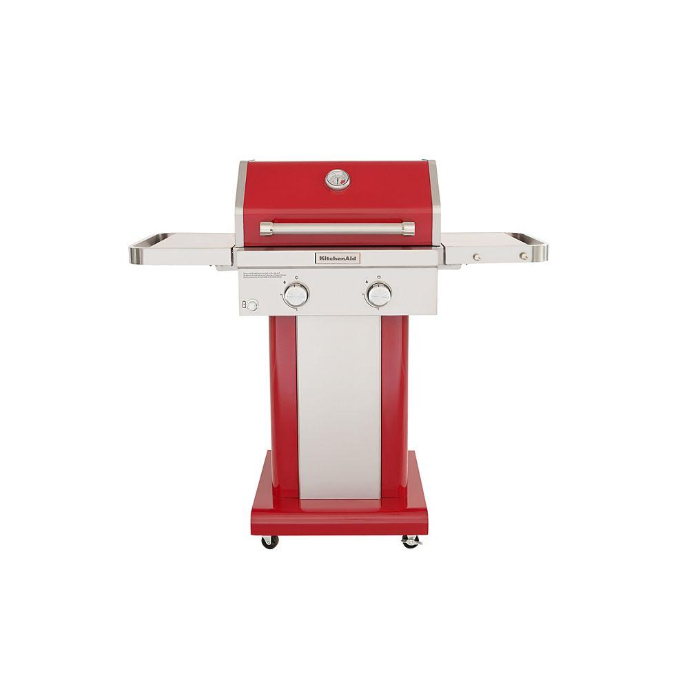 KitchenAid 2-Burner Outdoor Gas BBQ in Red