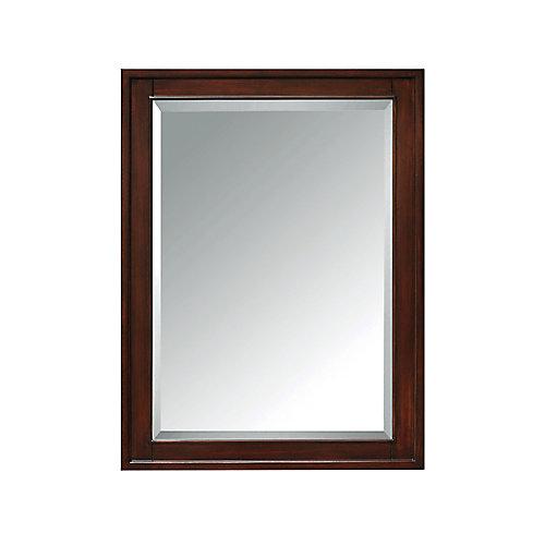 Madison 24 Inch Mirror Cabinet In Light Espresso Finish