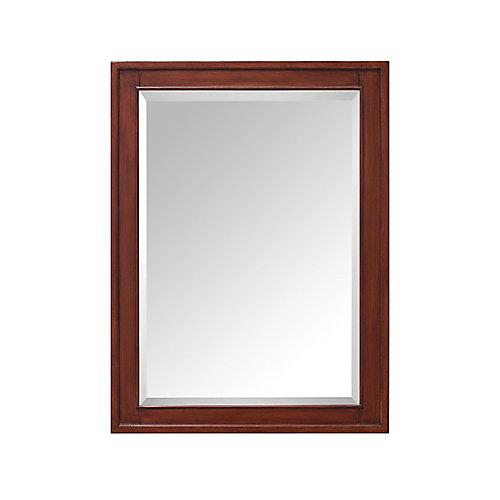 Madison 24 Inch Mirror Cabinet In Tobacco Finish