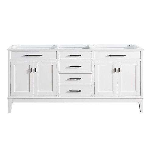 Madison 72-Inch  Double Vanity Cabinet in White