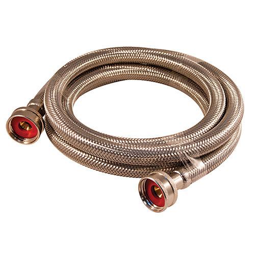 Flex Connector Ss 3/4i Hose X 3/4i Hose 72i Washing Machine Lead Free