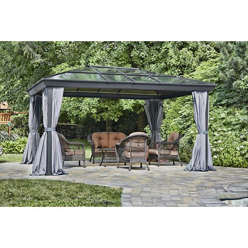 Venus Gazebo 12 Ft. x 14 Ft. in Slate
