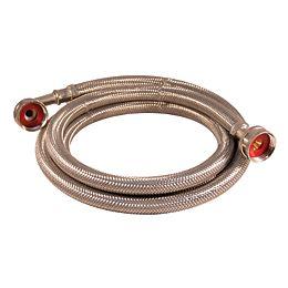 Flex Connector Ss 3/4i Hose X 3/4i Hose W/Elbow 72i Wash Machine Lead Free