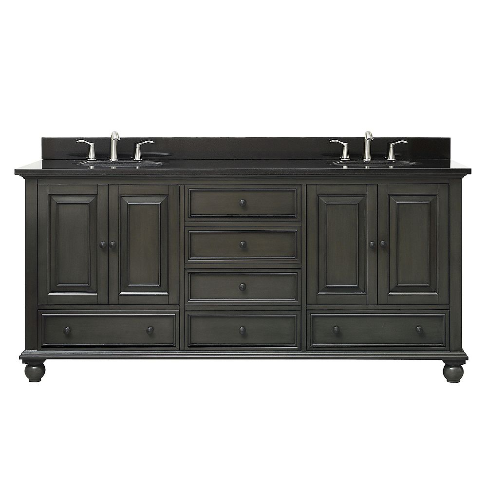 Avanity Thompson 73 Inch Double Sink Vanity Combo In ...