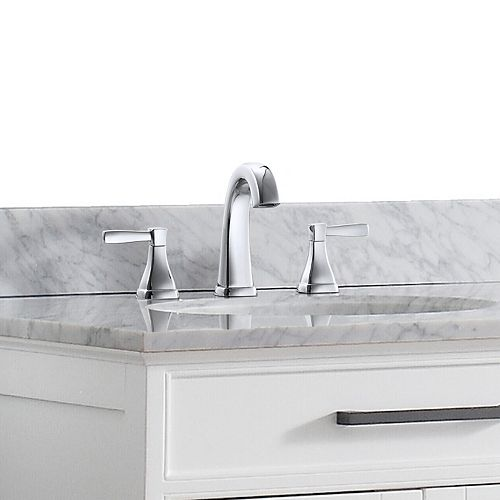 Clarice 8-inch Widespread 2-Handle Bathroom Faucet in Chrome Finish