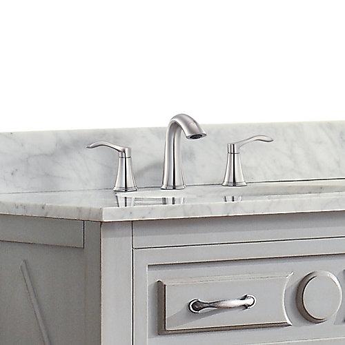 Mizuchi 8-inch Widespread 2-Handle Bathroom Faucet in Brushed Nickel Finish