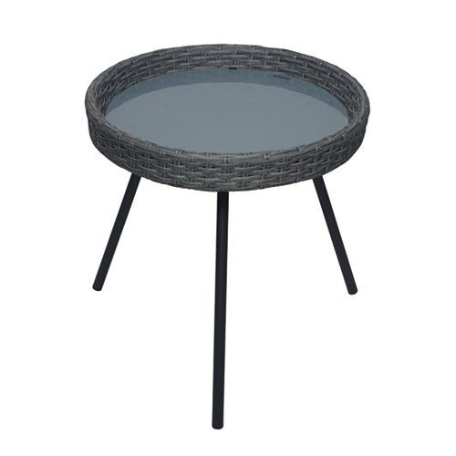 Margie 16-inch Woven Patio Side Table