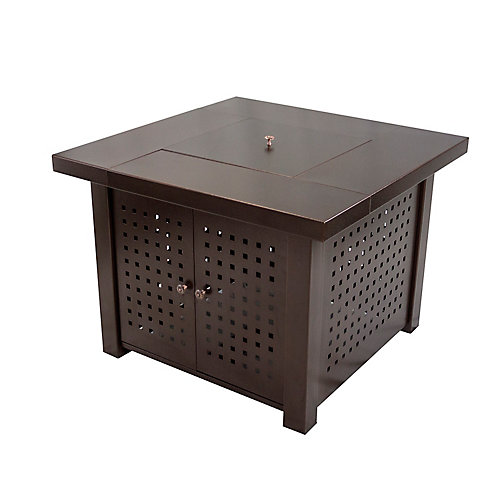 Eden 38-inch Square Gas Fire Pit Table